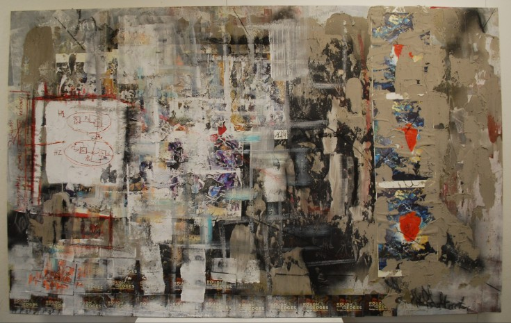 """Emerging Disease Framework"", 2014, Mixed Media, 56""x90"""
