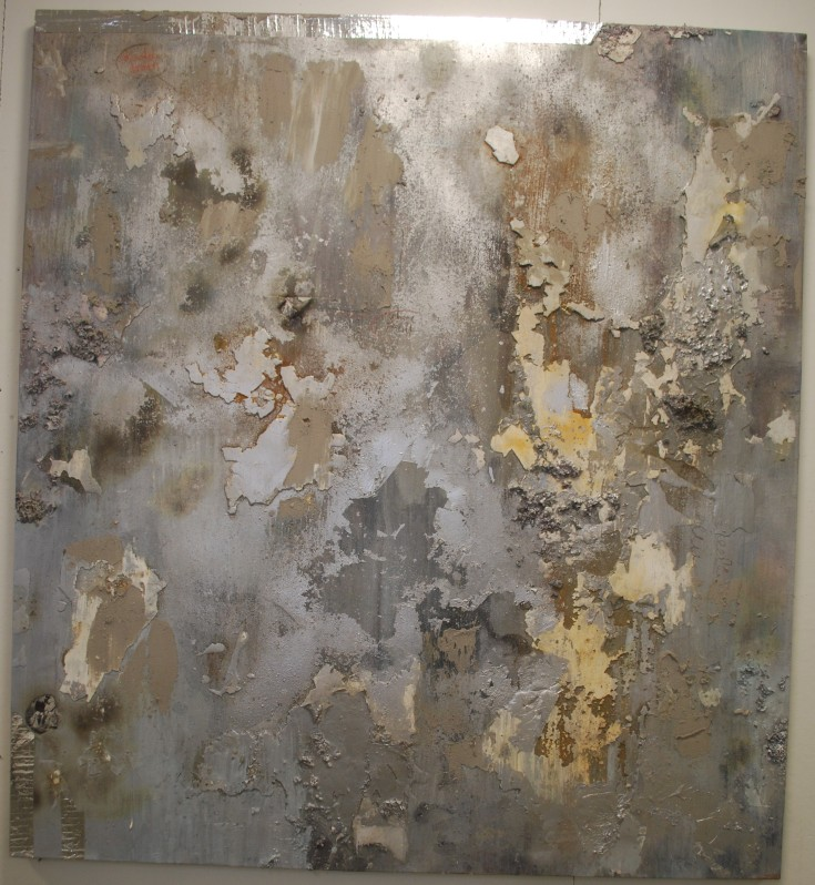"""Industrial Skin"", Mixed Medium, 67"" x 61"", 2014"