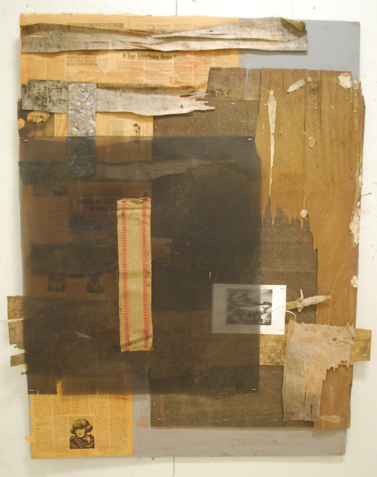 """Settling West"", Mixed Medium, 48"" x 36"", 2014"