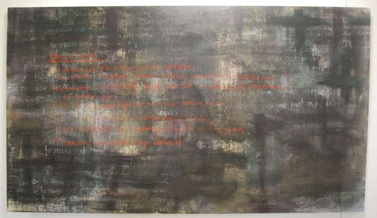 """""""Paradox of Perspectivism"""", Mixed Medium, 84.5"""" x 48"""", 2014"""
