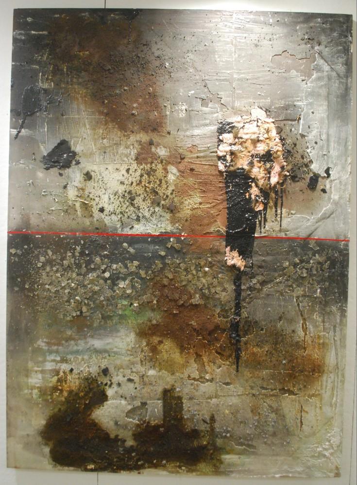 """Transaction"", Mixed Medium, 85.5"" x 62"", 2014"