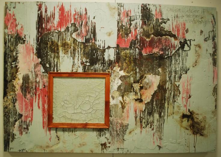 """Mother"", Mixed Medium, 70"" x 71.5"", 2014"