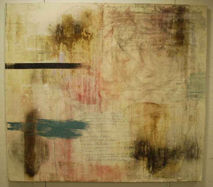 """""""Artful and Knowing"""", Mixed Medium, 73"""" x 65"""", 2014"""