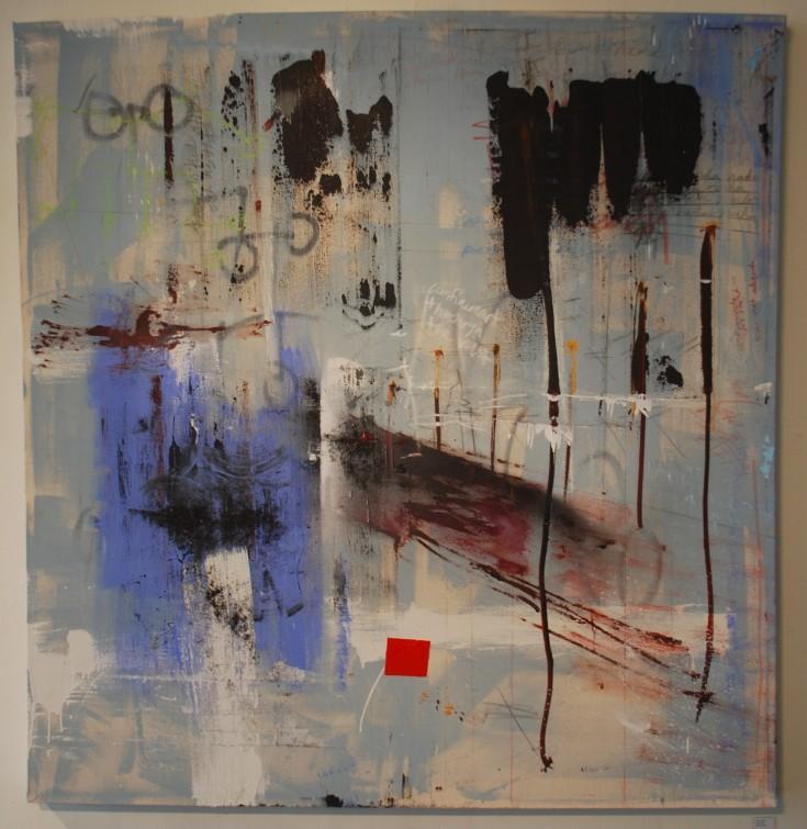 """From Here"", Mixed Medium, 60"" x 62"", 2015"