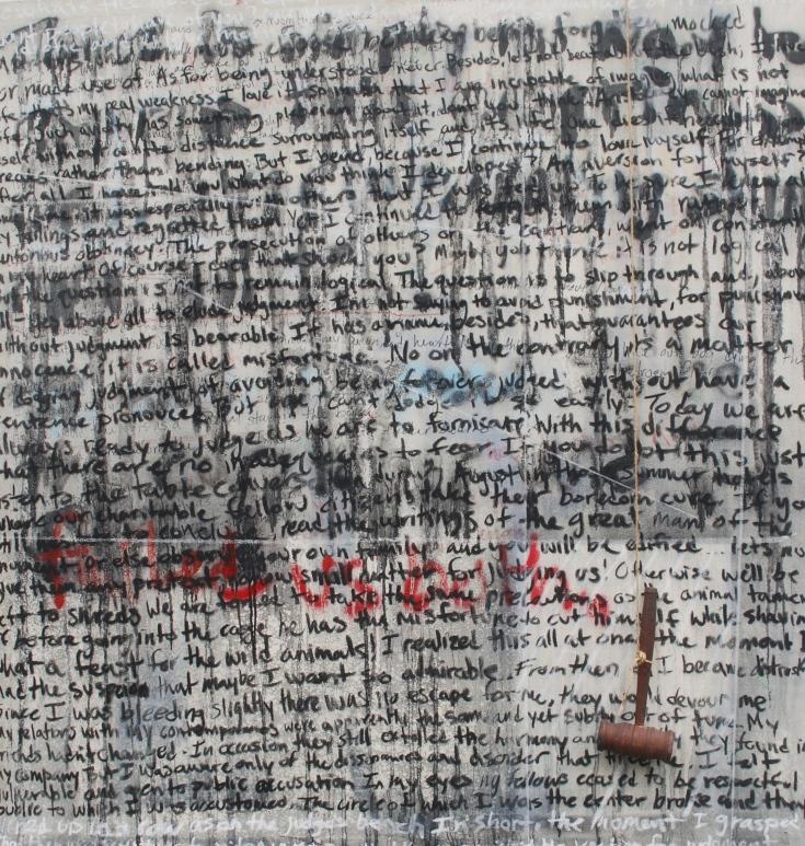 """Judge Penitent"", Mixed Medium, 52"" x 48"", 2015"