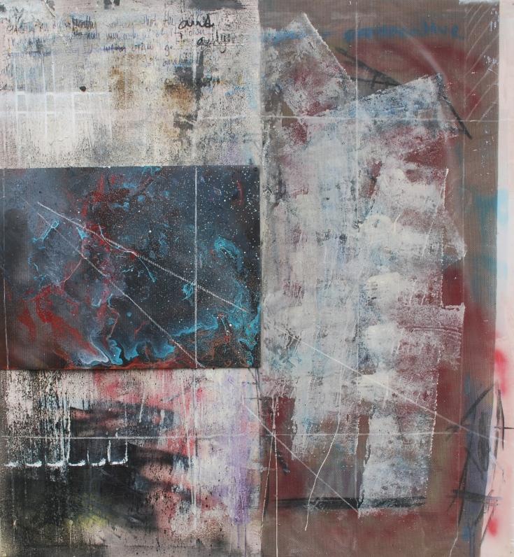 """Depth and Distance Between Concerns"", Mixed Medium, 52"" x 48"", 2015"