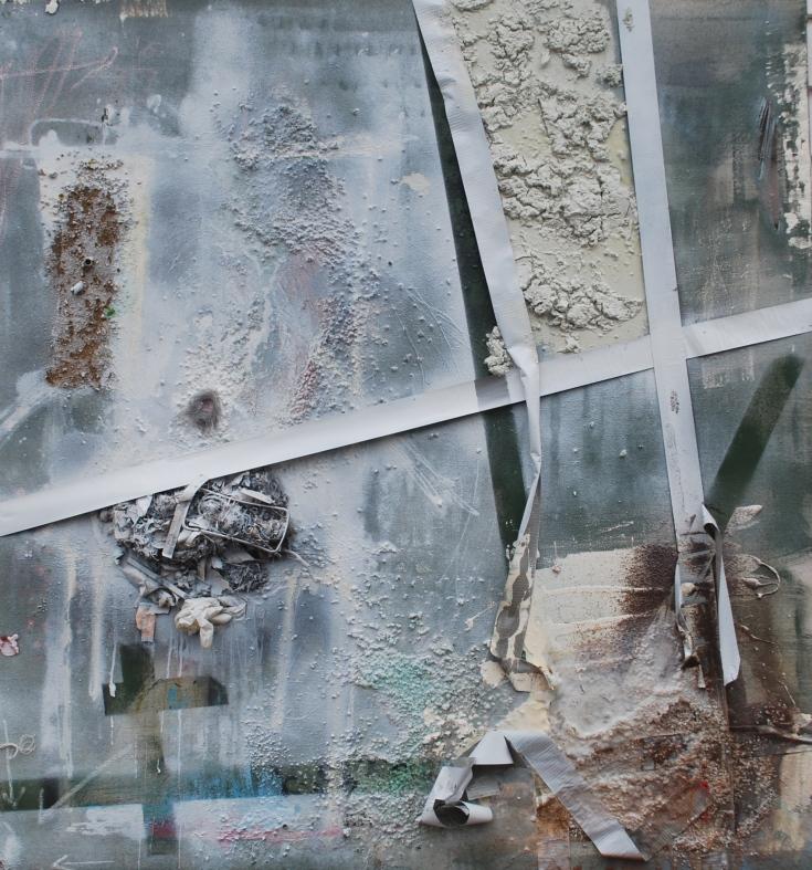 """Masking Trauma"", mixed medium, 52"" x 48"", 2015"