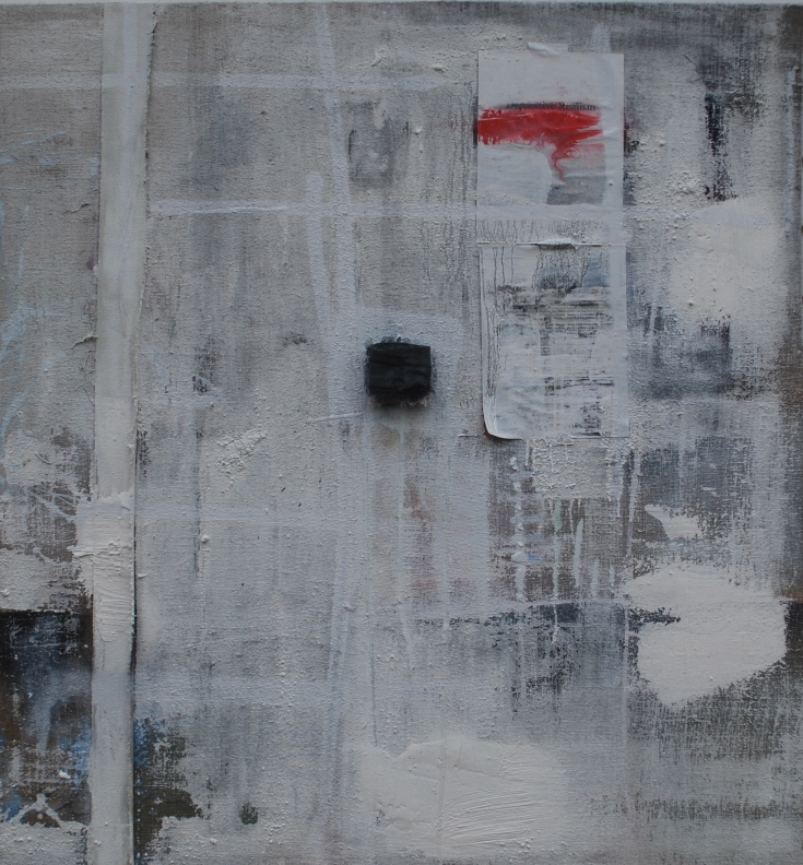 """Empty"", Mixed Medium, 52"" x 48"", 2015"