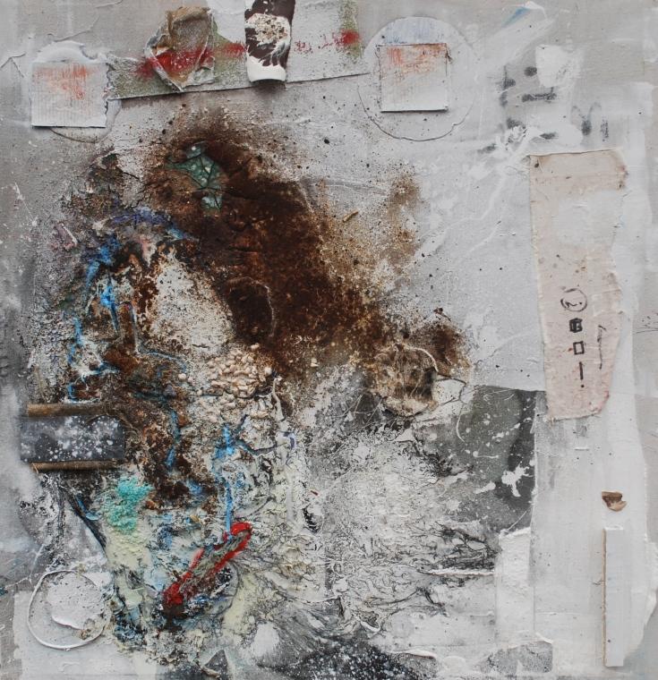 """Patricide"", Mixed Medium, 52"" x 48"", 2015"