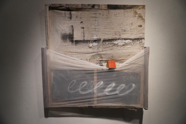 """Here"", Mixed Medium, 51""x48"", 2017"